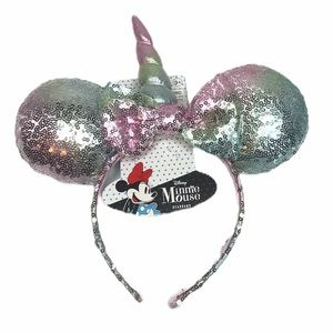 Minnie Mouse Disney Unicorn Ears with Bow, Pink